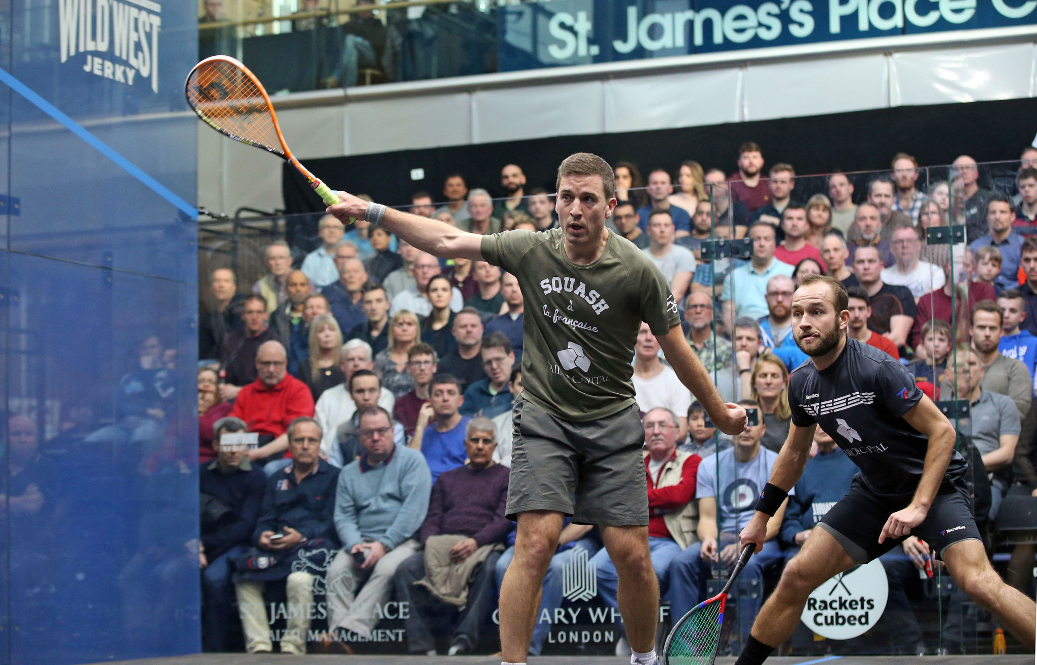 Mathieu Castegnet will face world number one Mohamed ElShorbagy in round two of the Canary Wharf Classic ©PSA