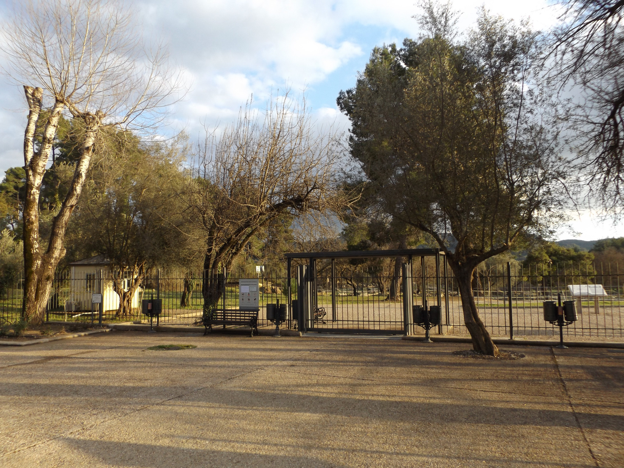 The Ancient Olympia archaeological site where the Olympic Flame lighting is due to take place was closed today ©ITG