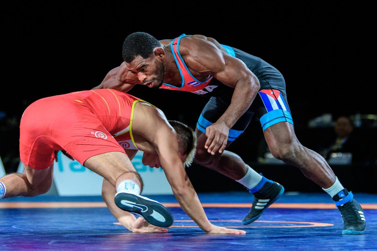 Yurieski Torreblanca Queralta was one of Cuba's two gold medallists ©UWW/Tony Rotundo