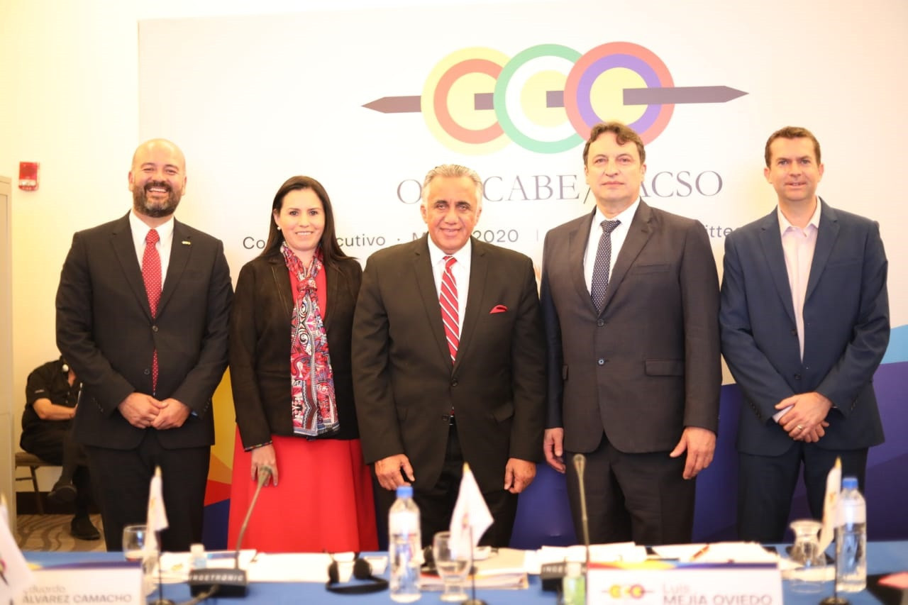 León, represented by the Mexican delegation at the CACSO Executive Board meeting, is one of two cities to have presented formal nominations to host the 2026 Central American and Caribbean Games ©CACSO