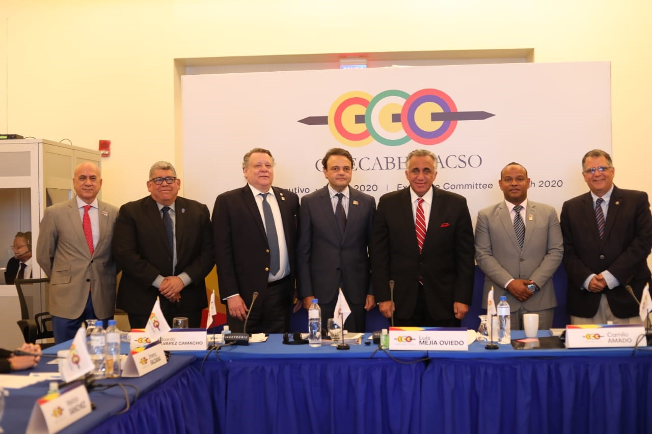 The Dominican delegation at the CACSO Executive Board meeting ©CACSO