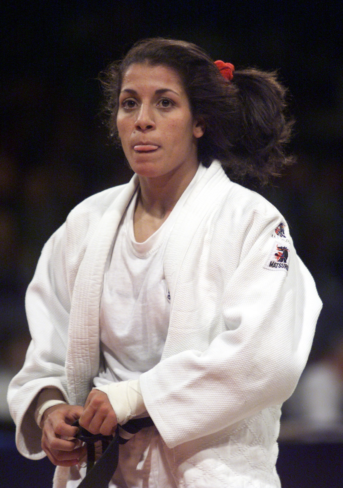 Salima Souakri became the first Algerian and Arab woman to compete in judo at the Olympics after competing at Atlanta 1996 ©Getty Images