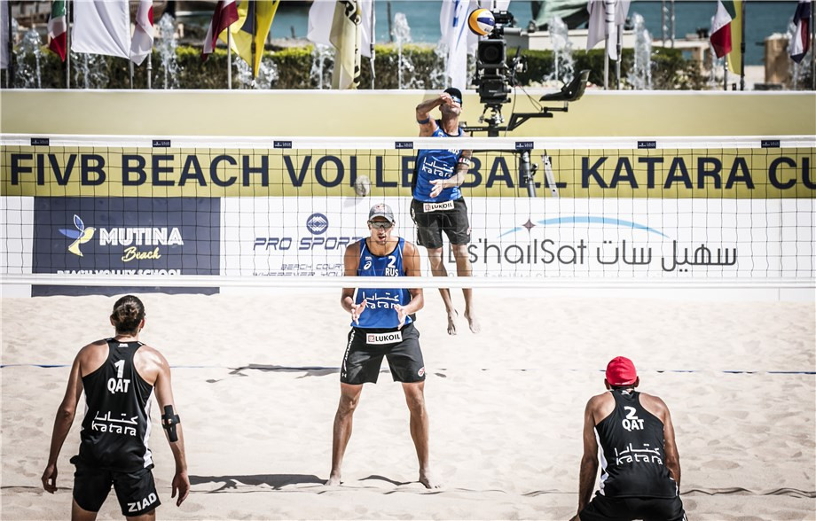 World champions off to a flyer at FIVB Beach World Tour event in Doha