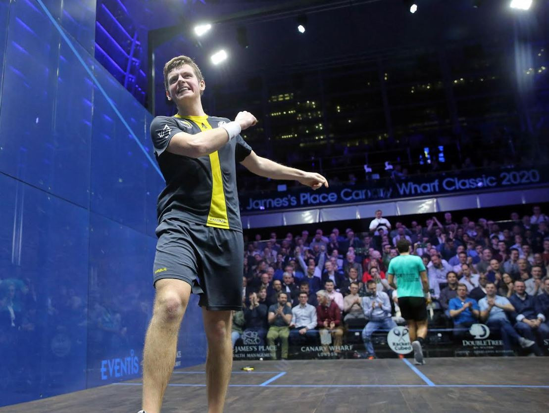Unseeded Lobban squashes fourth seed at St James' Place Canary Wharf Classic