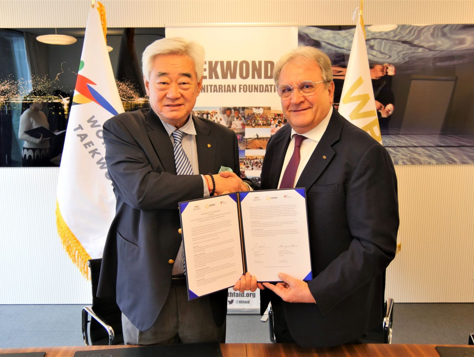 Taekwondo Humanitarian Foundation strikes deal with WBSC
