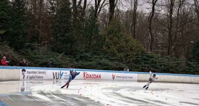 The World University Speed Skating Championships continued in Amsterdam today ©ISU