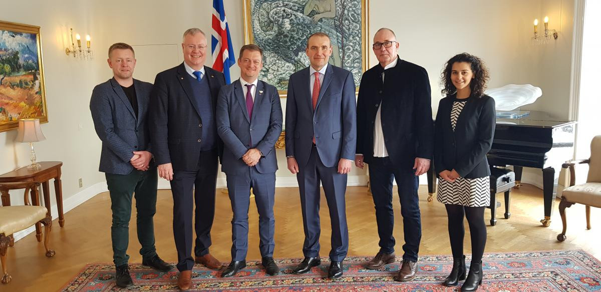 IPC President Andrew Parsons holds talks with President of Iceland