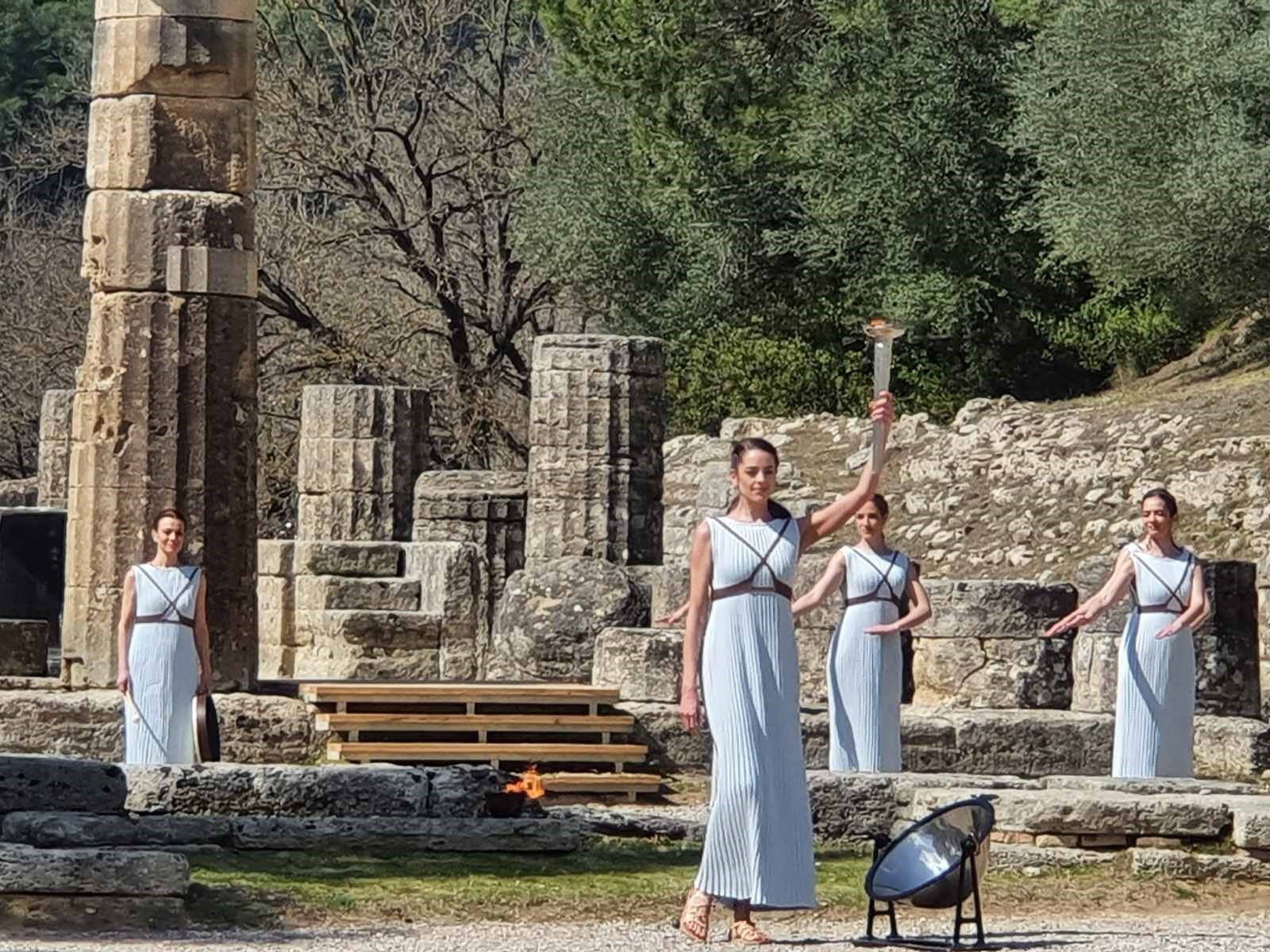 The final rehearsal took place in Ancient Olympia ahead of Thursday's Flame-lighting Ceremony ©Hellenic Olympic Committee