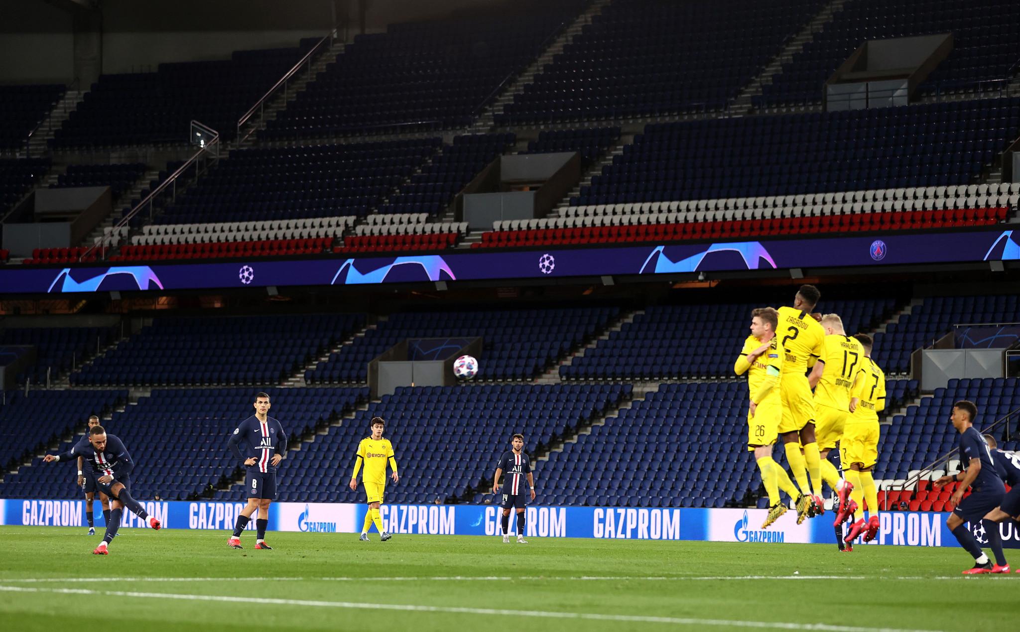 Paris Saint-Germain's Champions League second leg with Borussia Dortmund was held behind closed doors ©Getty Images