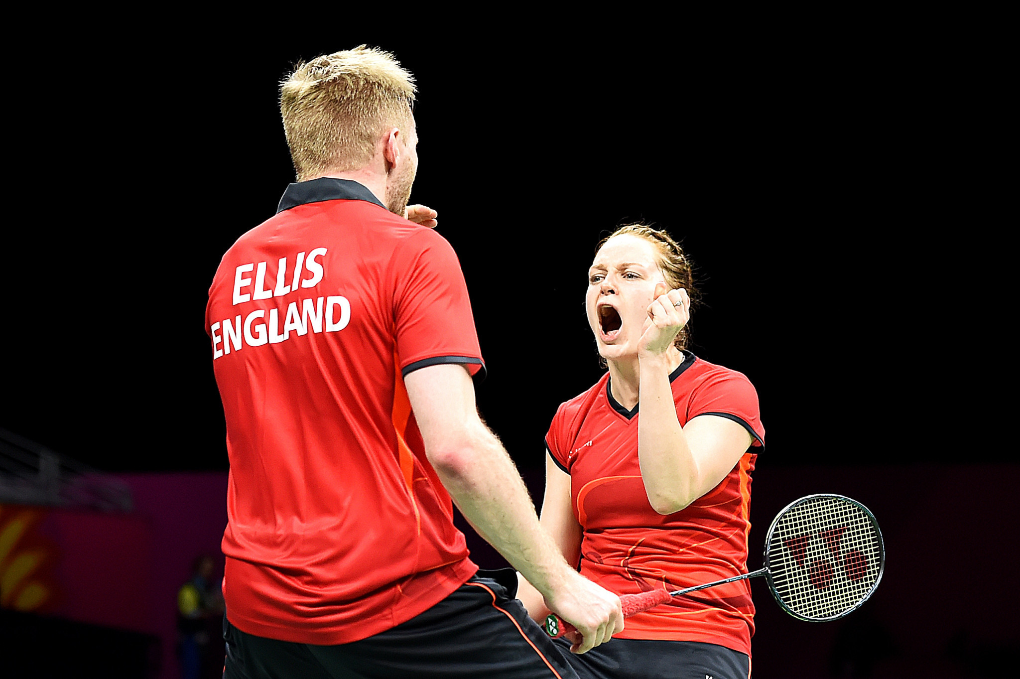 England's unseeded Marcus Ellis and Lauren Smith defeated fourth seeds Yuta Watanabe and Arisa Higashino of Japan to make the quarter-finals of the All England Open Badminton Championships in Birmingham ©Getty Images