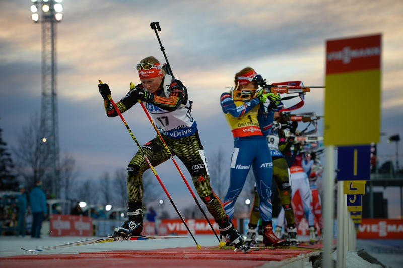 Franziska Hildebrand of Germany shot clean on her way to victory