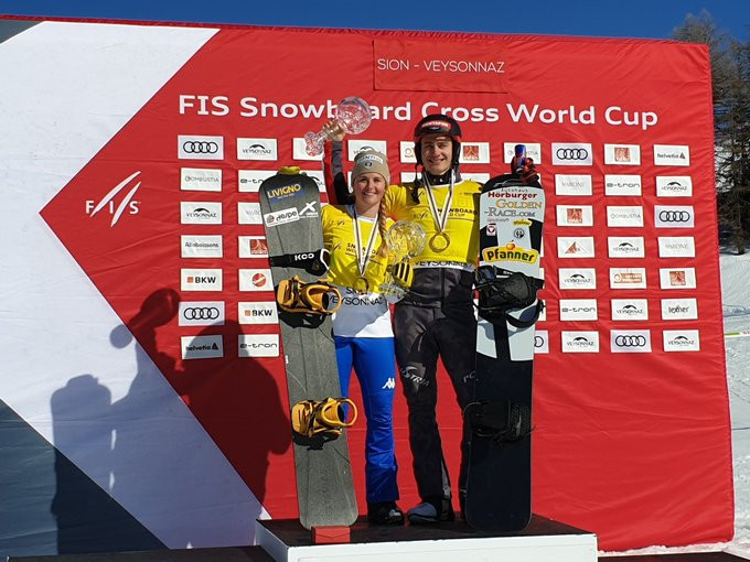 Moioli and Hämmerle clinch overall titles at FIS Snowboard Cross World Cup