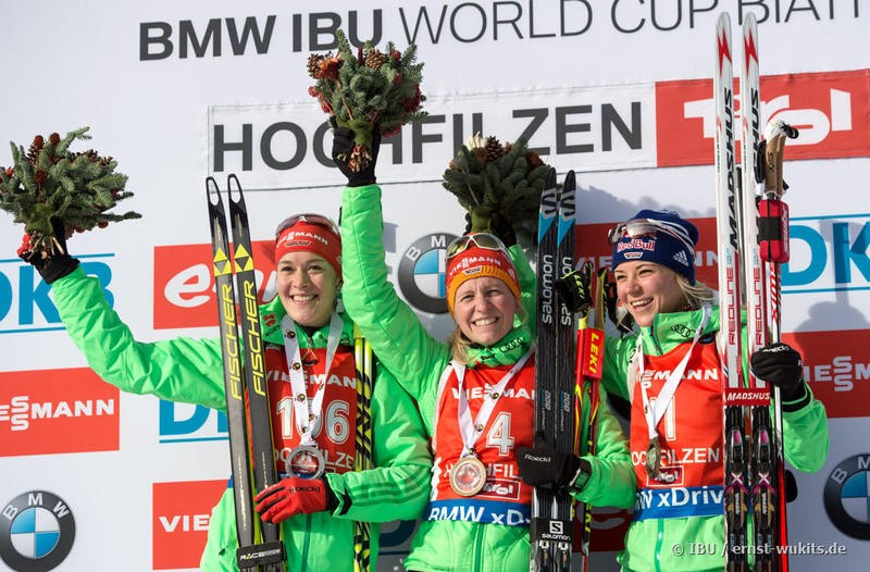 Hildebrand powers to maiden IBU World Cup success as Germany enjoy podium sweep