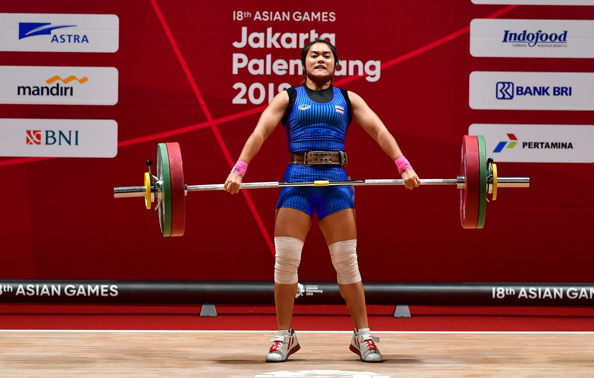 Sopita Tanasan is one of the high-profile Thai weightlifters to have tested positive for a banned substance in recent years ©Getty Images