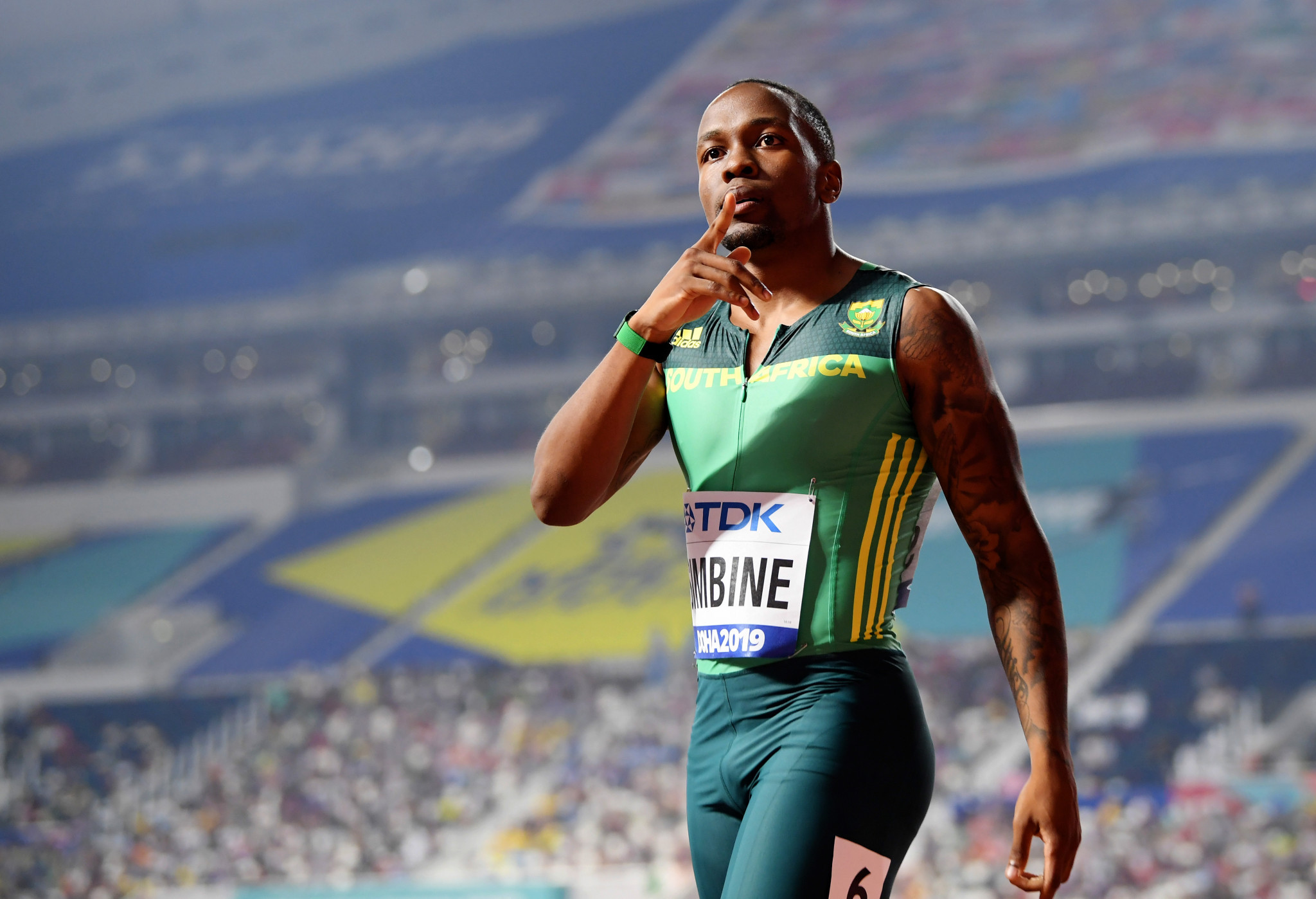 Simbine clocks men's 100m world lead in South Africa
