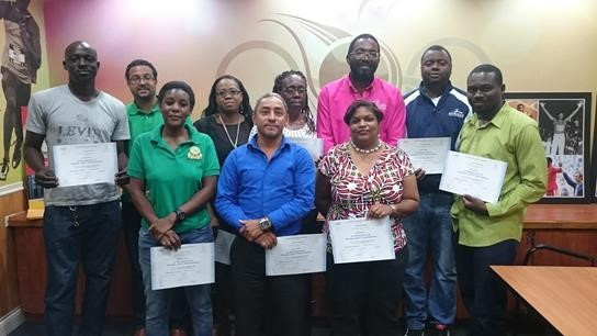 Trinidad and Tobago Olympic Committee award IOC certified diplomas to management course graduates