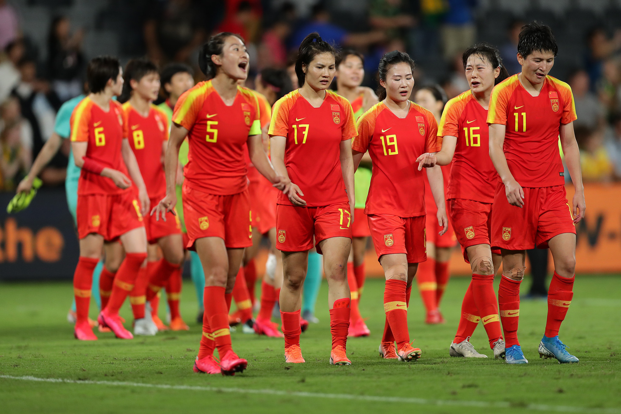 China's team were placed in quarantine after arriving in Australia ©Getty Images