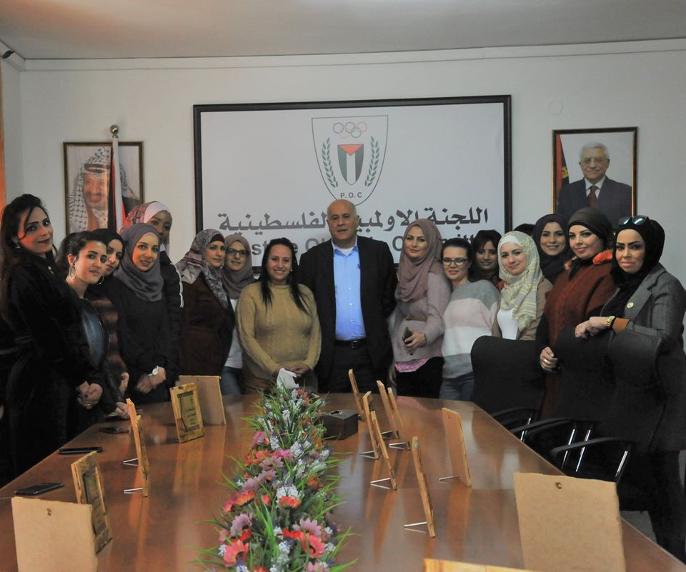 Palestine Olympic Committee President praises contribution of female staff