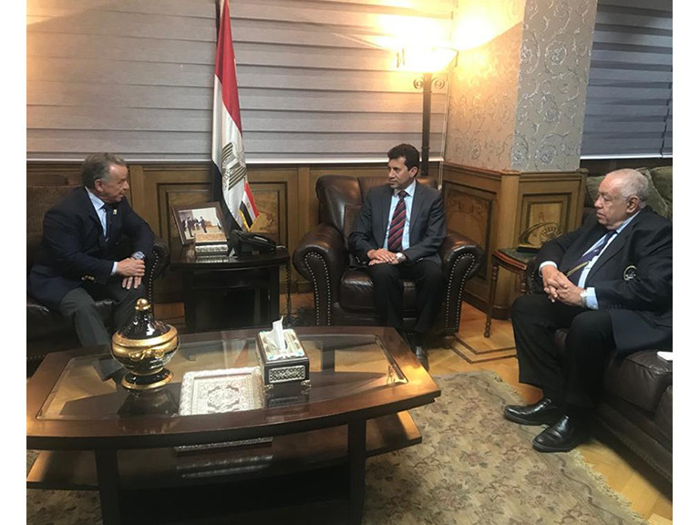 IFBB President holds talks with Egyptian Minister of Sports