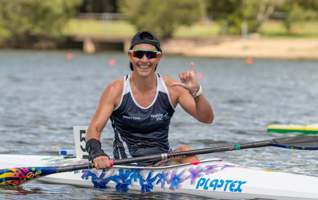 AJ Reynolds is one of four paddlers on the verge of booking their ticket to Tokyo 2020 ©Paralympics Australia