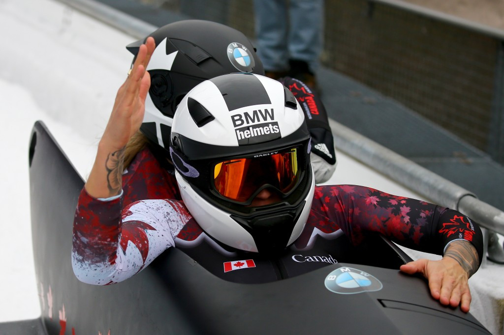 Kaillie Humphries and Melissa Lotholz claimed their second World Cup win of the season ©Getty Images