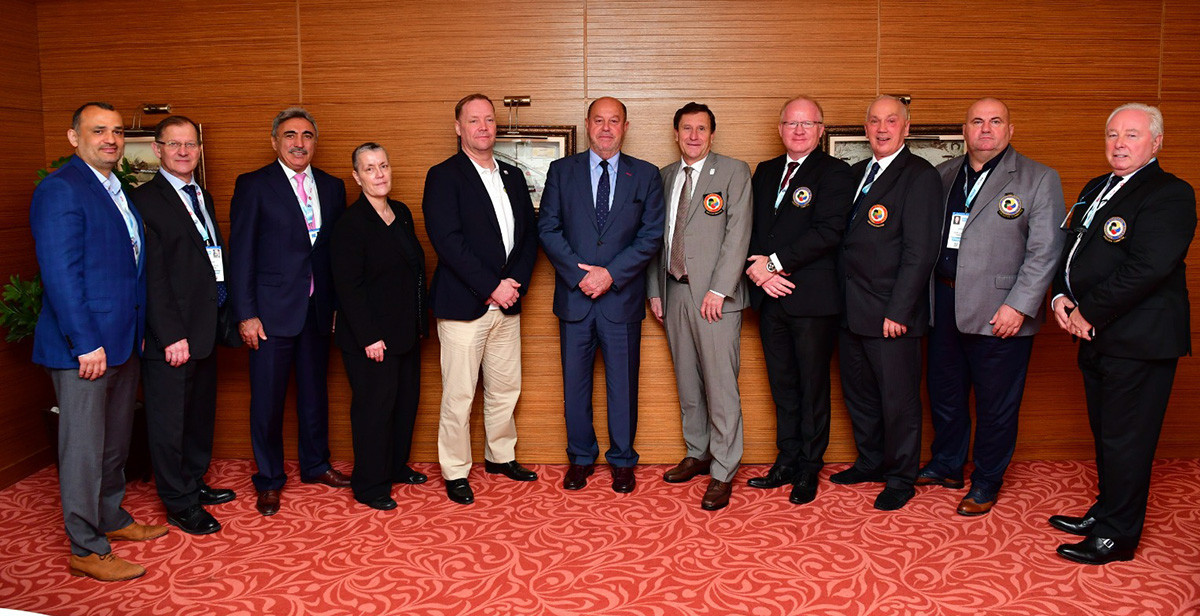 Yrsa Ranki, fourth from left, was part of the EKF Executive Committee ©WKF