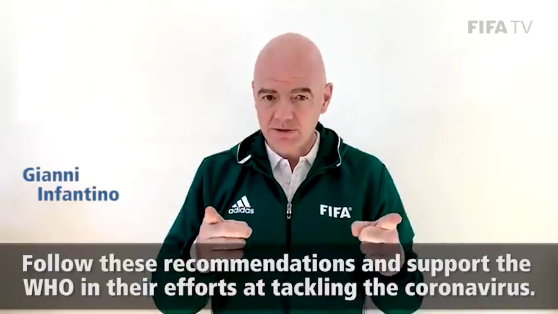 FIFA release video advising people on WHO steps to combat coronavirus