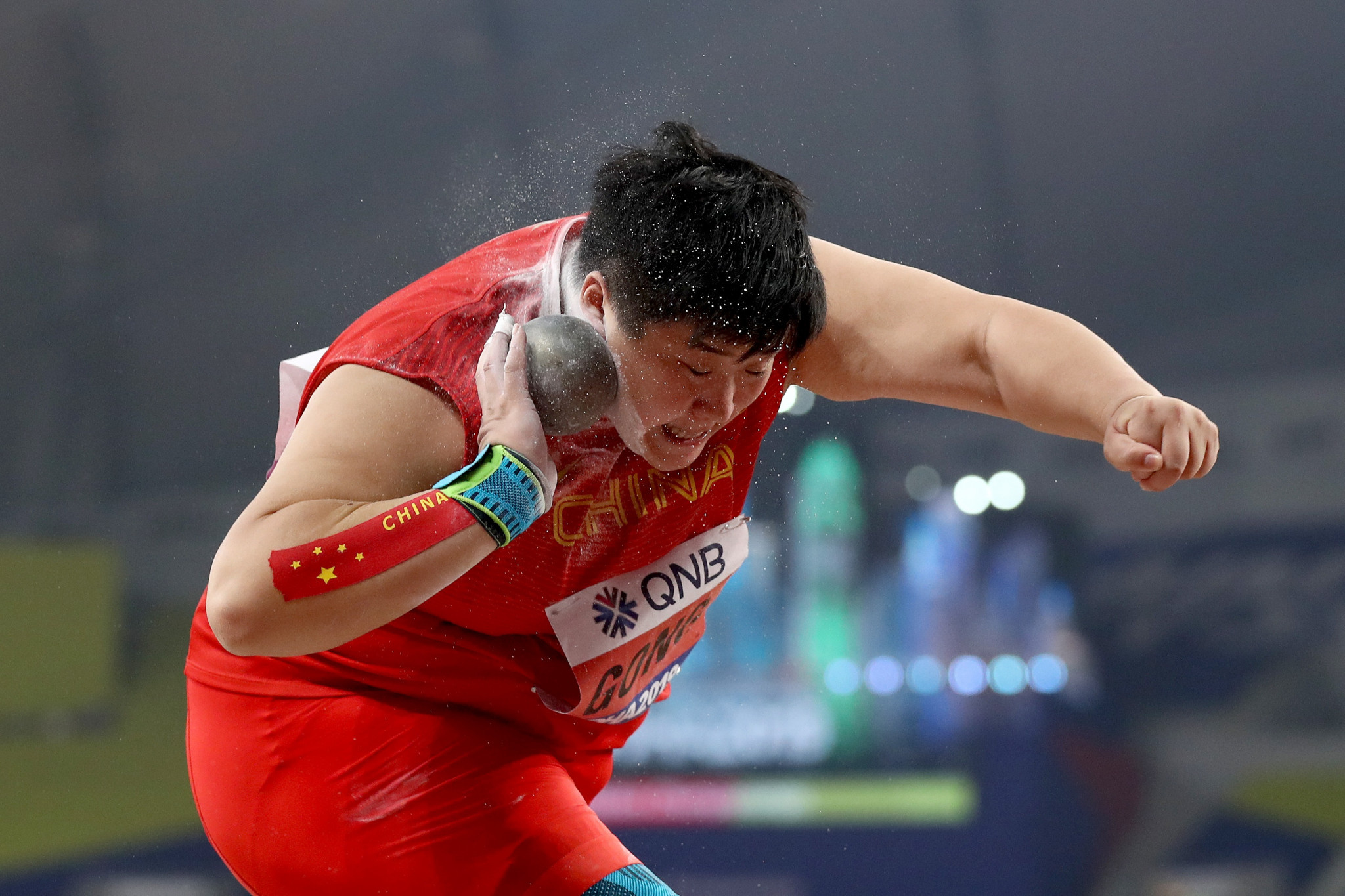 Shot putter Gong throws world lead as first indoor athletics event held in China since coronavirus outbreak