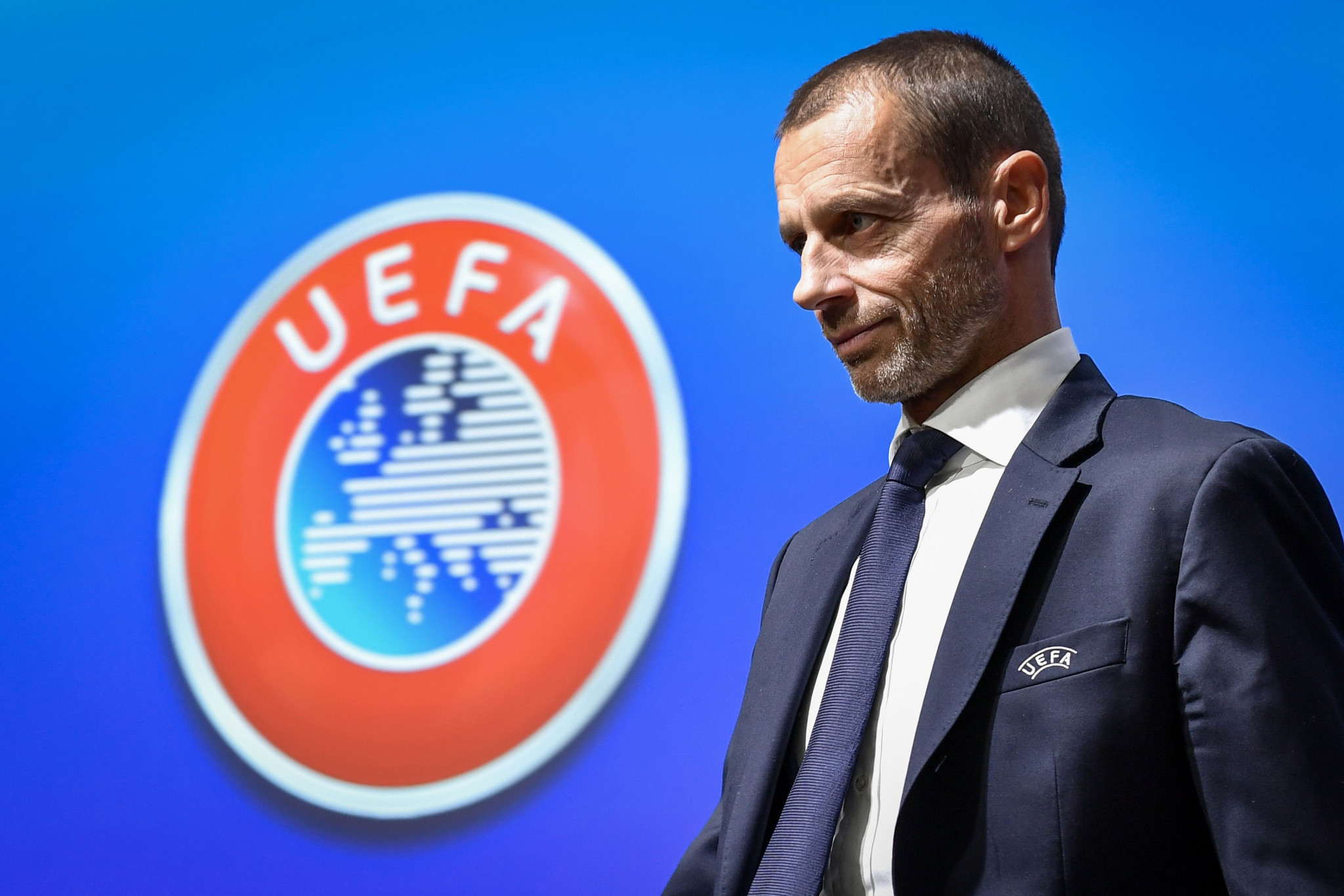UEFA President Aleksander Čeferin said the health of fans, staff and players has to be the continental governing body's number one priority ©Getty Images