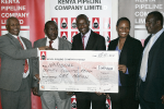 National Olympic Committee of Kenya receive donation for awards ceremony