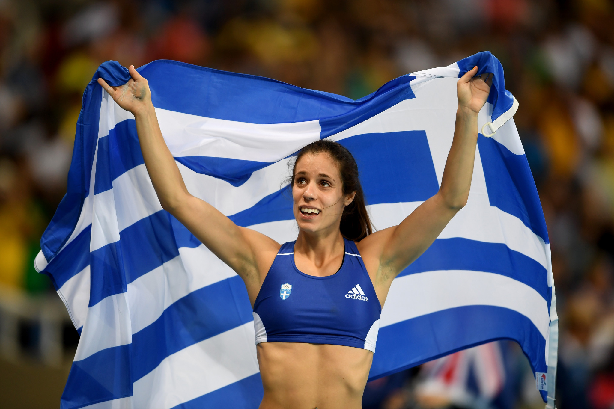 Katerina Stefanidi has been critical of the Interanational Olympic Committee's stance on Tokyo 2020 ©Getty Images