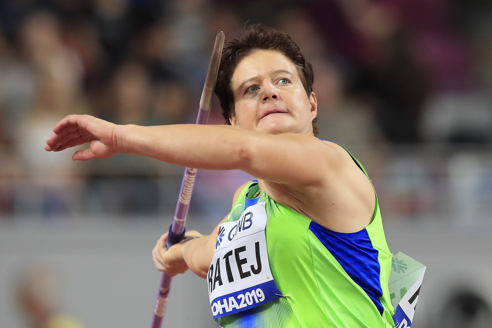 Slovenian javelin thrower Martina Ratej has been provisionally suspended by the AIU ©Getty Images
