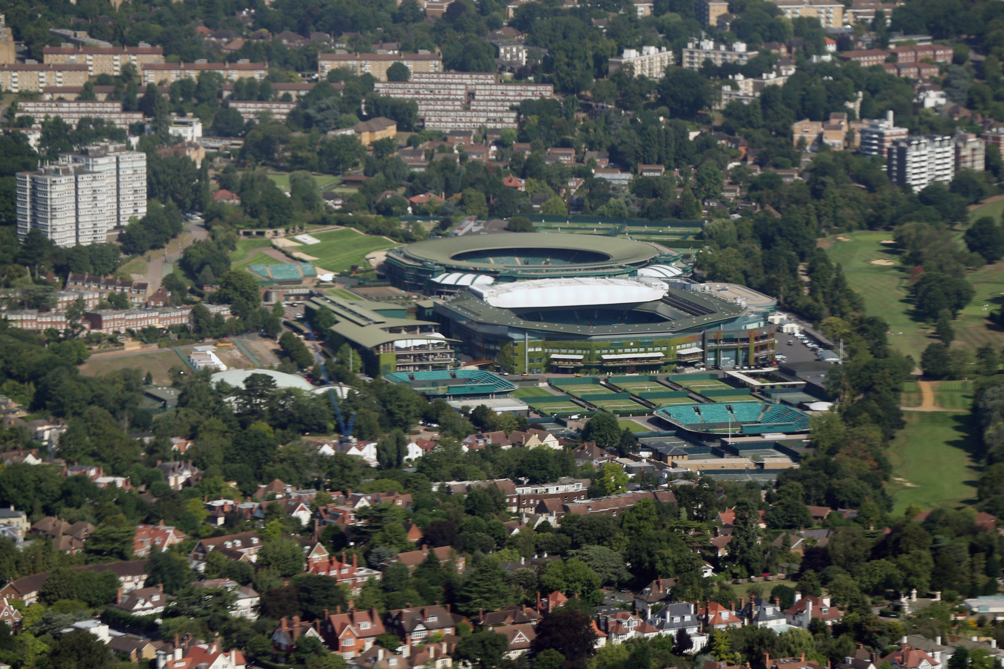 The Wimbledon museum, shop and community sports ground have been closed due to the coronavirus outbreak ©Getty Images