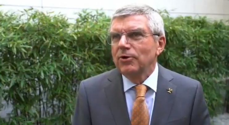 IOC President Thomas Bach gave an in-house interview yesterday ©IOC