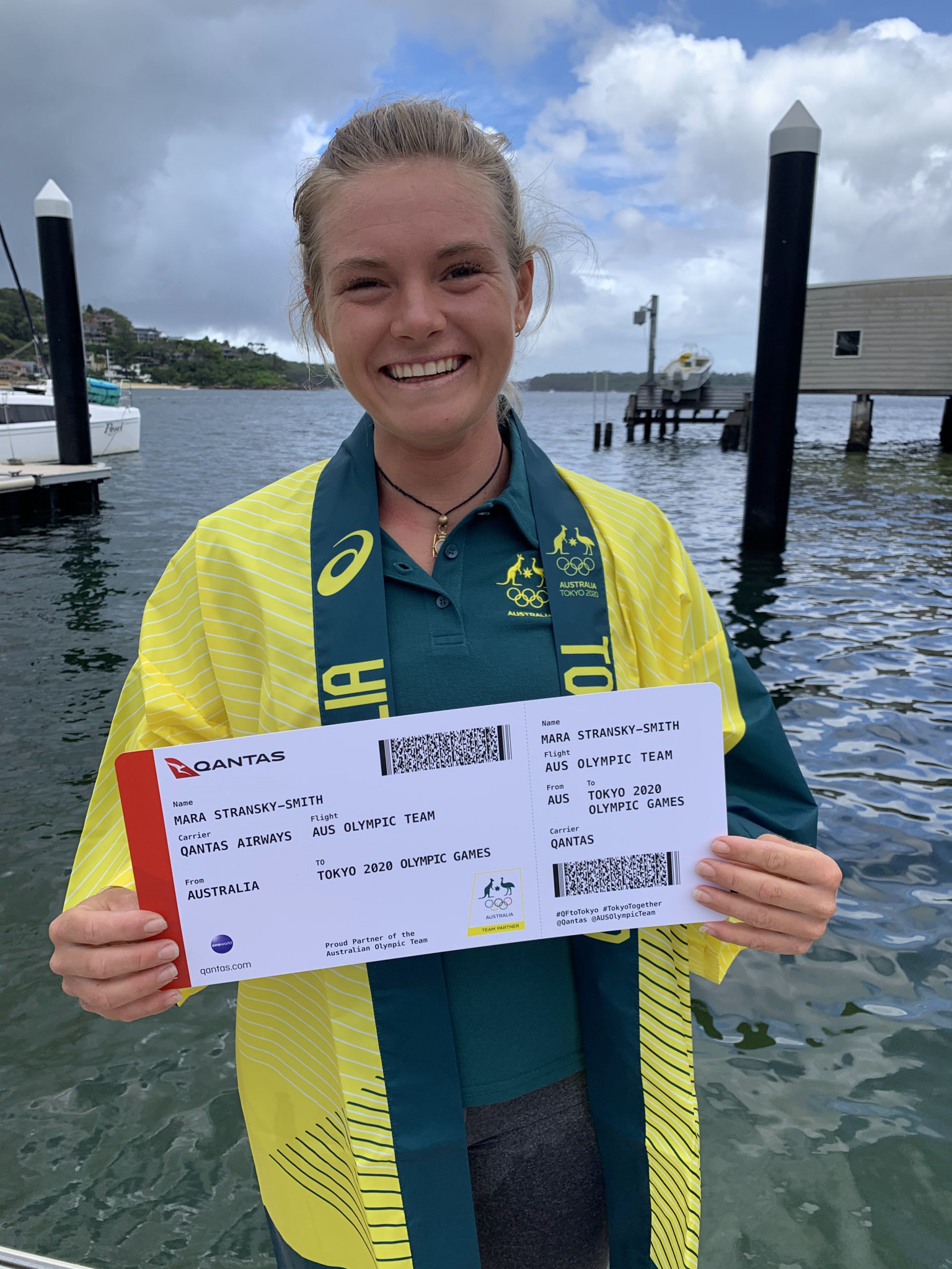 Mara Stransky became the youngest member of the sailing team, booking her place for Tokyo 2020 ©AOC
