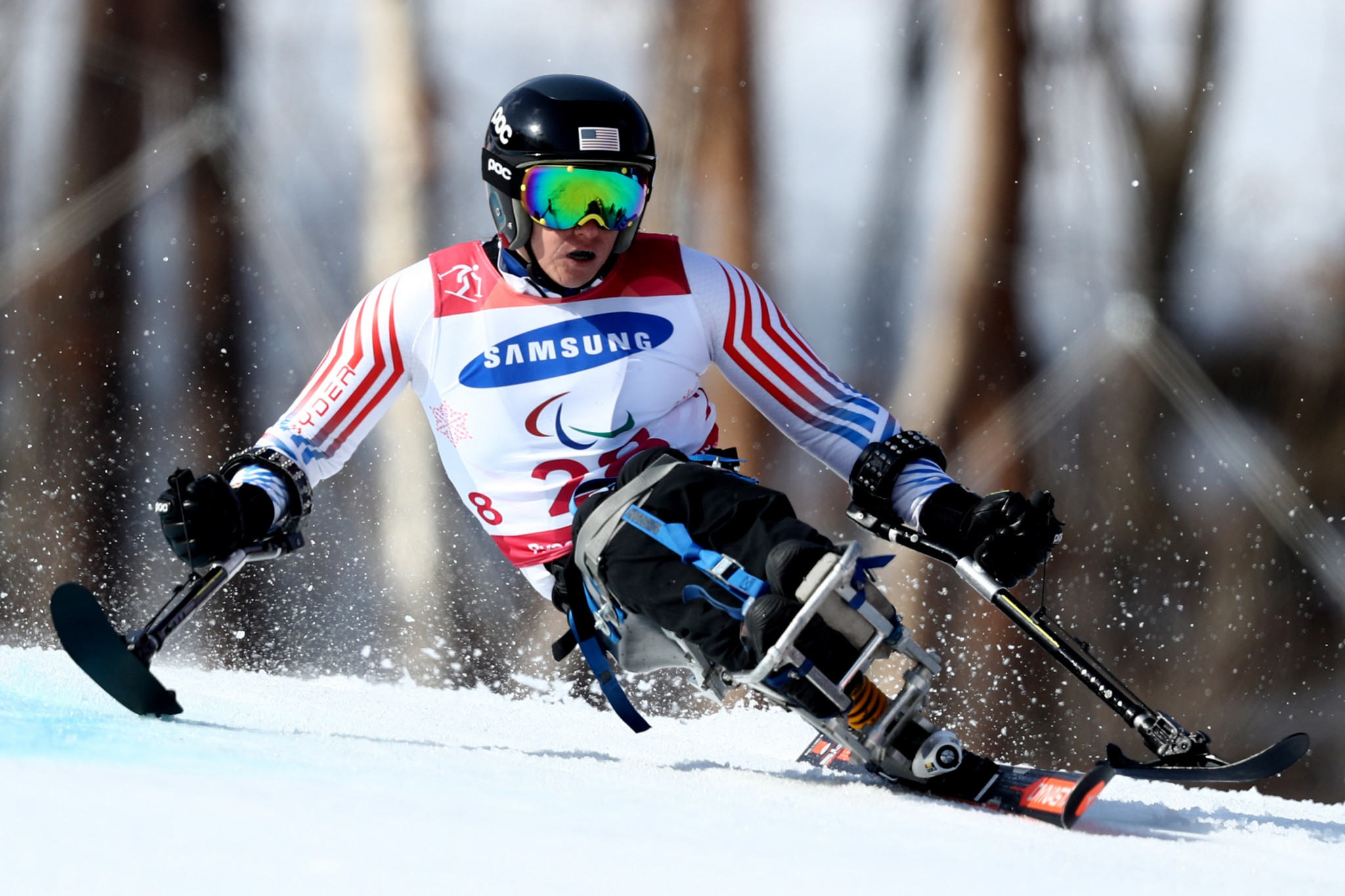 The United States' Laurie Stephens earned her career's first overall crystal globe in the women's sitting class ©Getty Images