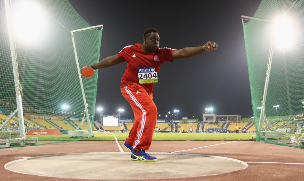Akeem Stewart also claimed bronze at the IPC Athletics World Championships this year