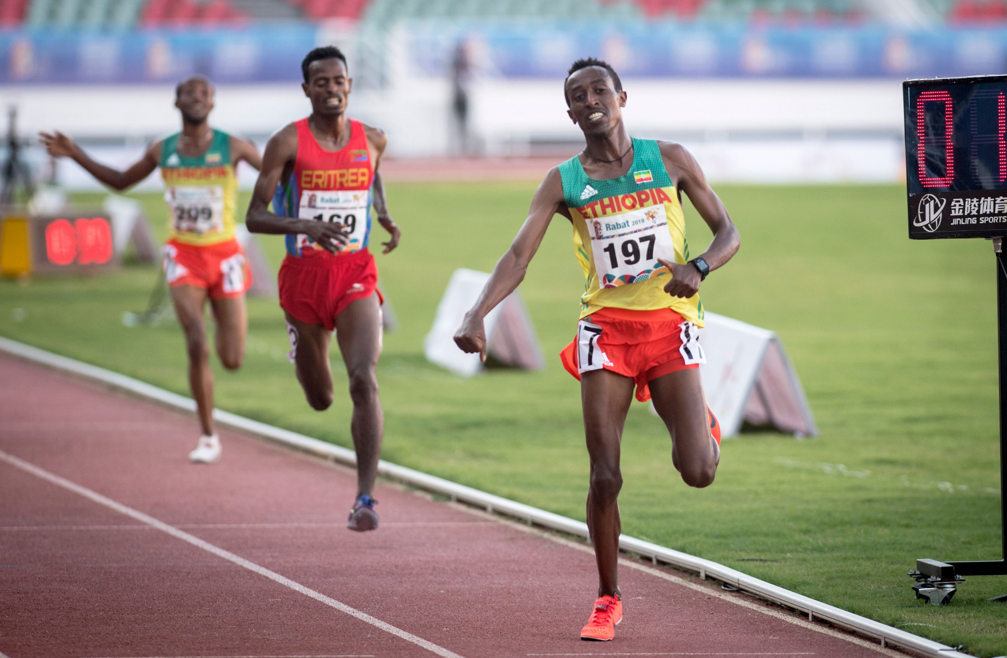 Berehanu Tsegu triumphed in the 10,000 metre competition at the 2019 African Games in Morocco ©Getty Images