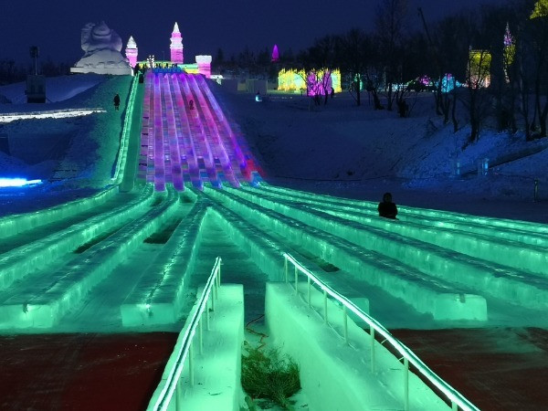 Ice park constructed in Changchun for Beijing 2022