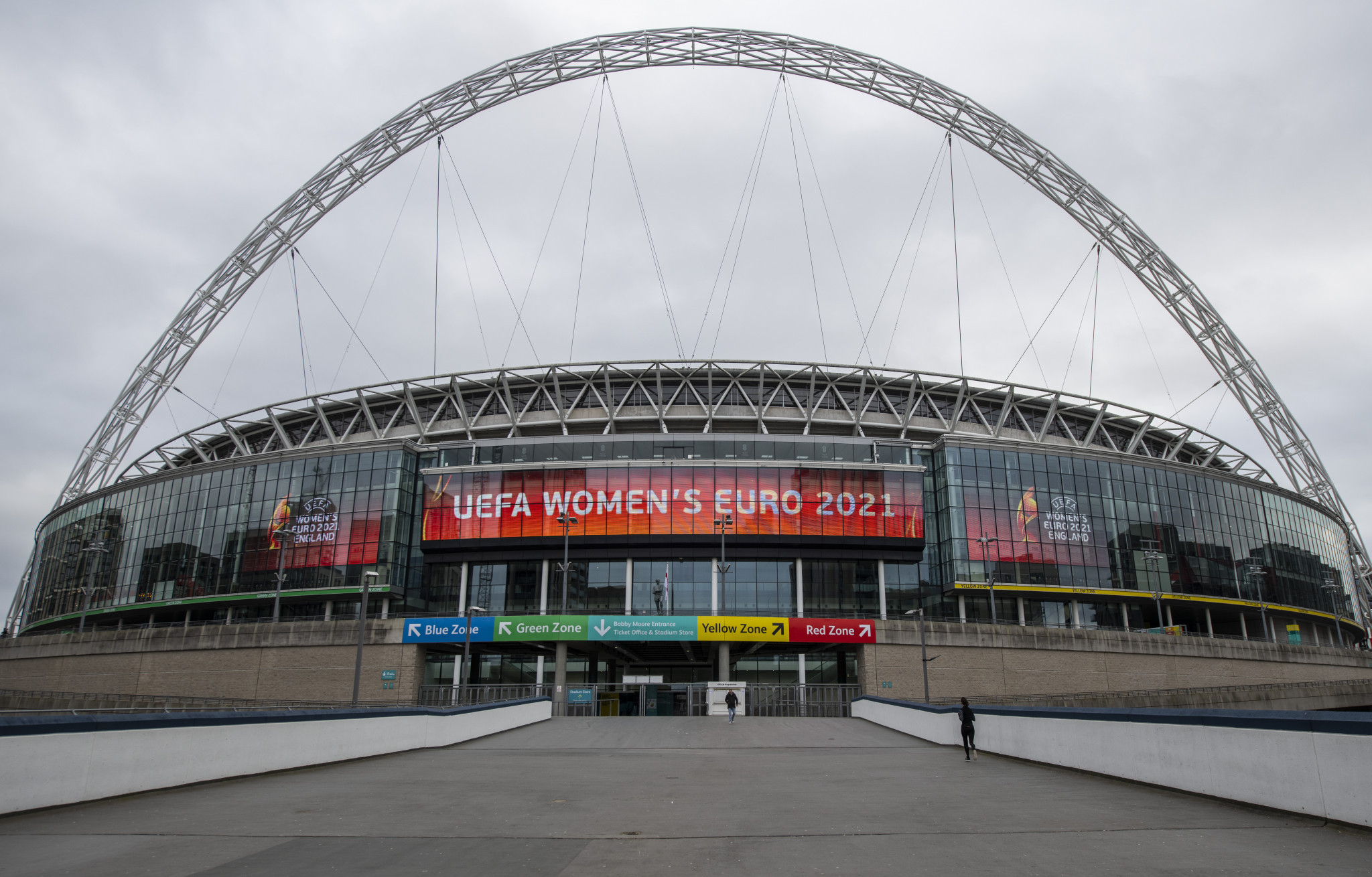 Wembley Stadium is due to host the finals of both the Men and Women's Euros, which could lend to a great atmosphere in England if both tournaments took place back-to-back ©Getty Images