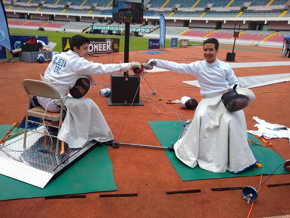 A wheelchair fencing showcase event took place at the National Stadium in San Jose, Costa Rica ©IWAS
