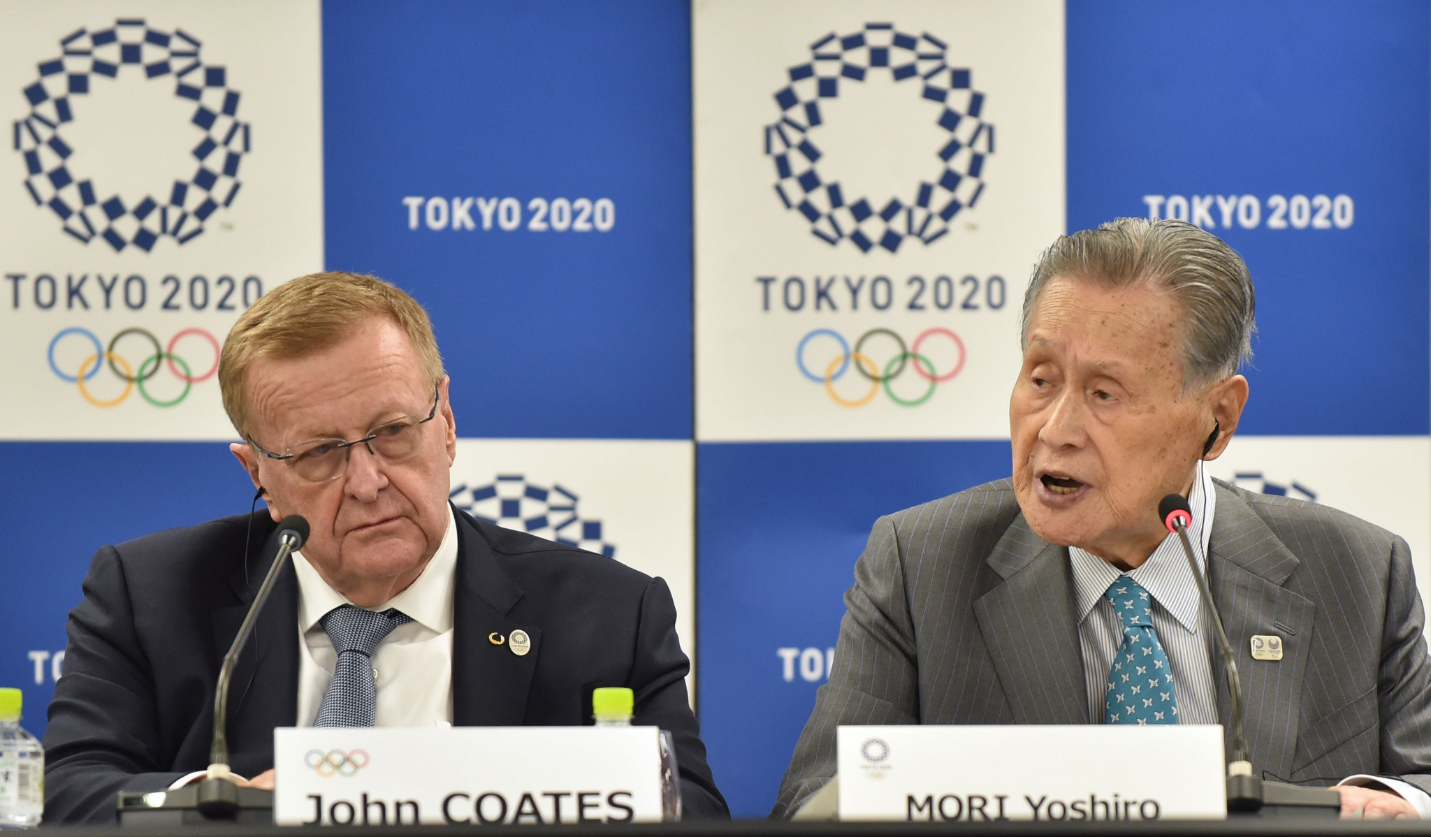 AOC President John Coates, left, has led the IOC Coordination Commission in Tokyo ©Getty Images