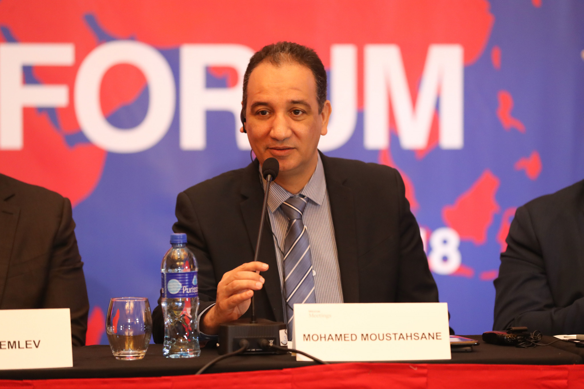AIBA Interim President Mohamed Moustahsane is one of six candidates running against Umar Kremlev in the election ©AIBA