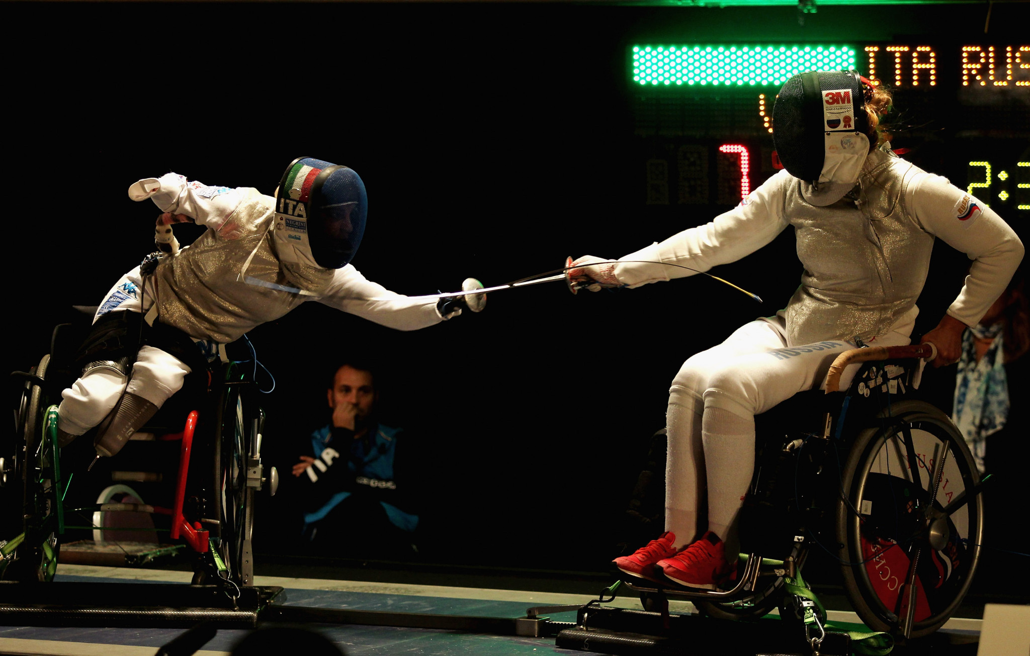 Wheelchair fencing competition would have featured at the Paralympic Games ©Getty Images