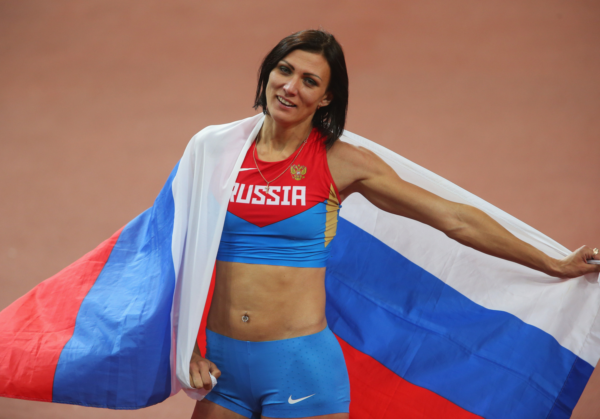 Russia's Natalya Antyukh, who won gold in the women's 400 metres hurdles at London 2012 has been charged with doping offences by the AIU ©Getty Images