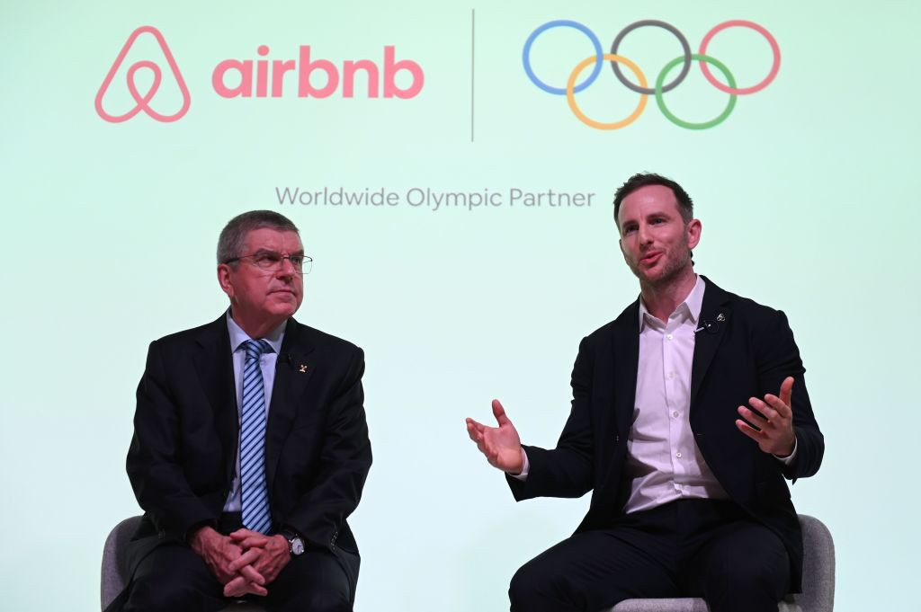 Airbnb became a TOP sponsor in November, much to the dismay of Paris 2024 ©Getty Images
