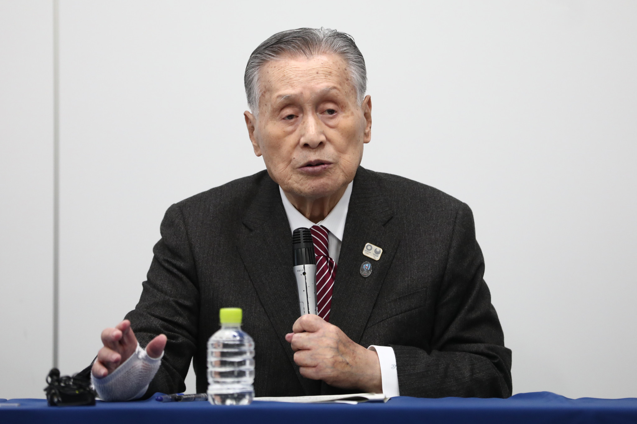 Tokyo 2020 President Yoshirō Mori does not seem keen on hosting the Olympic and Paralympic Games in spring ©Getty Images