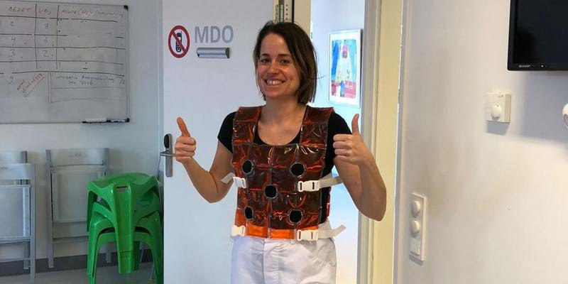 Hundreds of vests will be delivered to hospitals across the Netherlands ©NOC*NSF