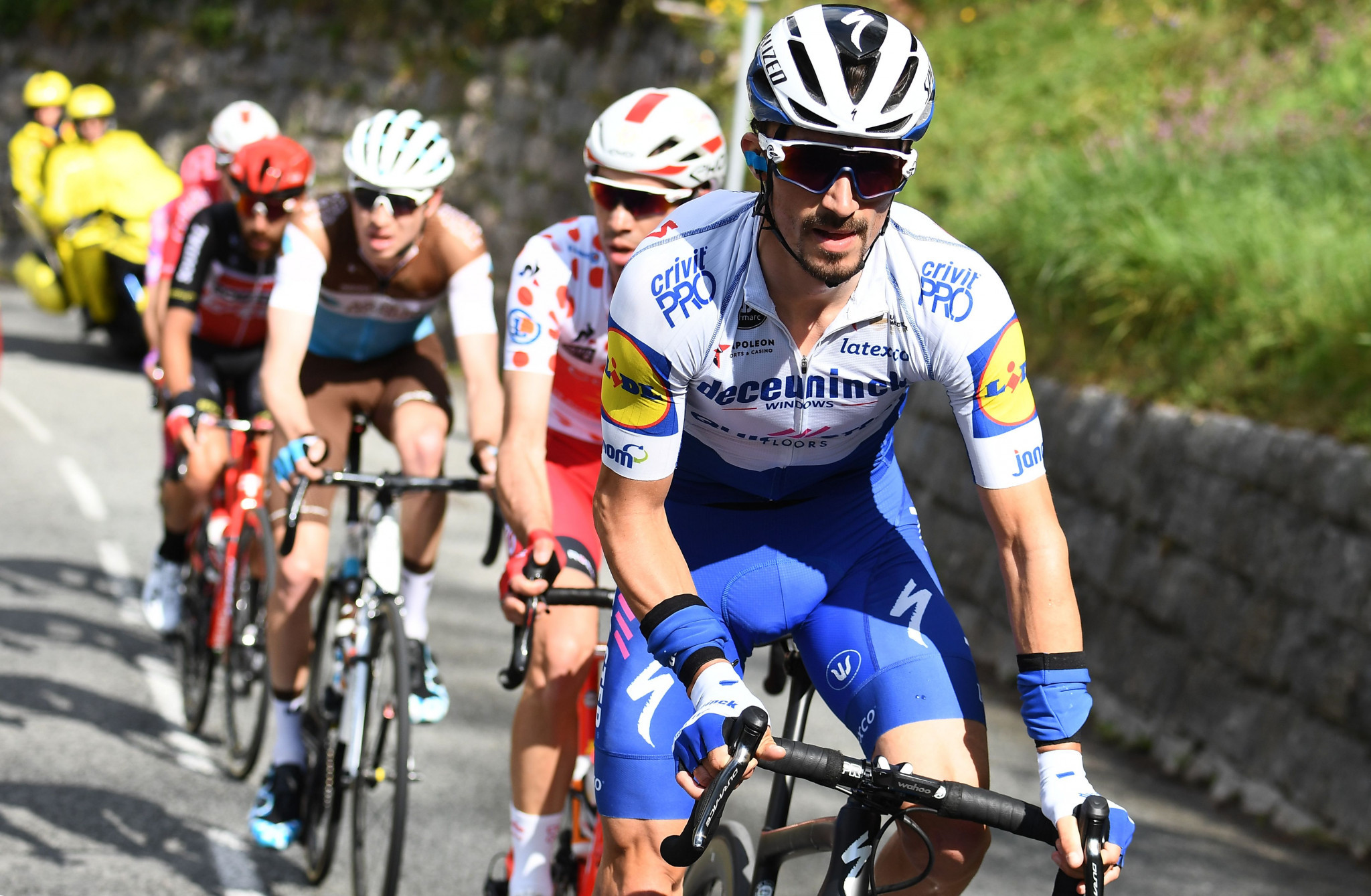Julian Alaphilippe has expressed concerns should the race be held without spectators ©Getty Images