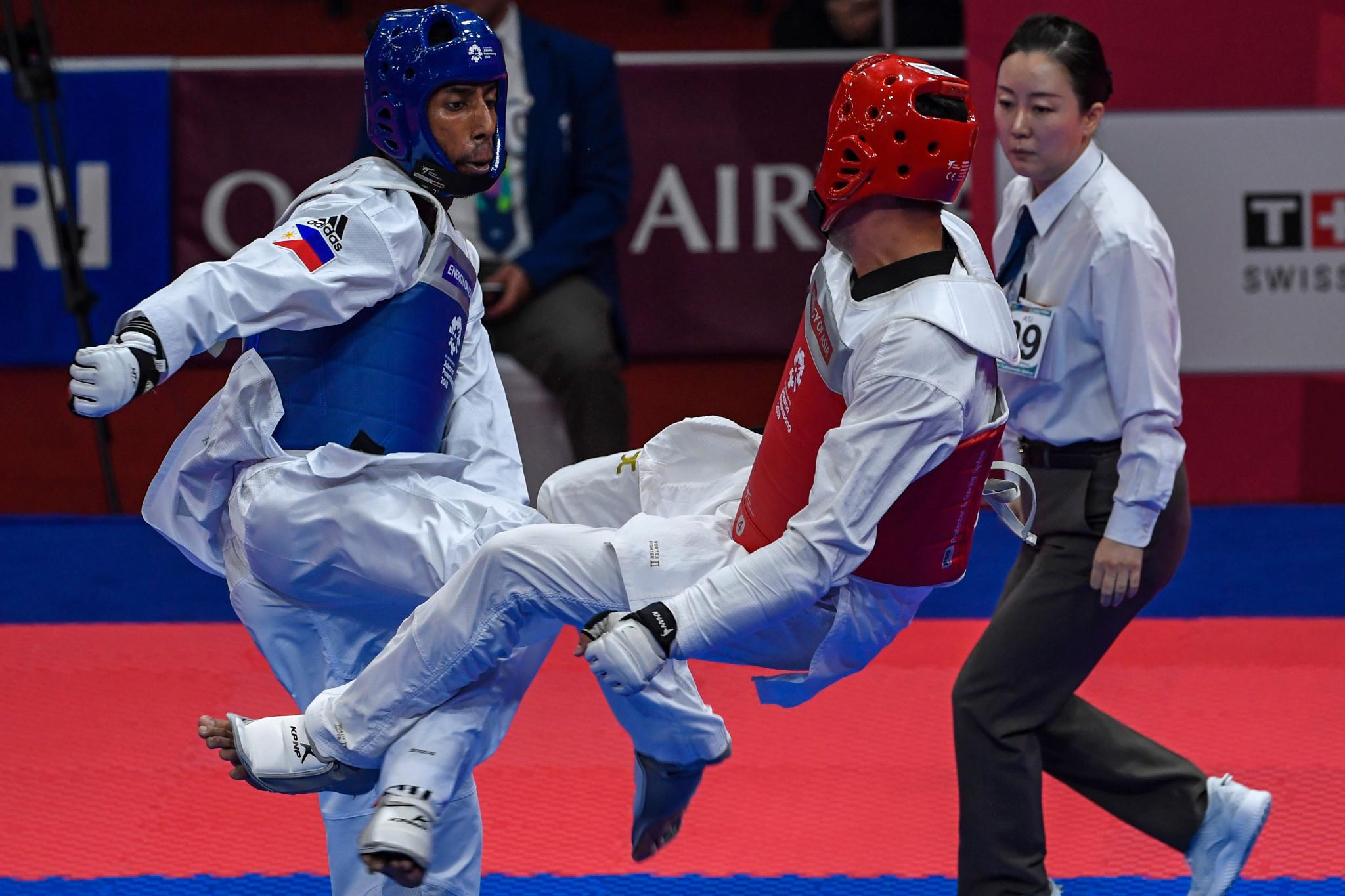Filipino taekwondo stars keep training at home during COVID-19 pandemic
